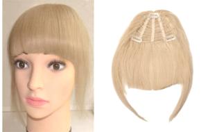 Накладная челка - карамельный блонд
