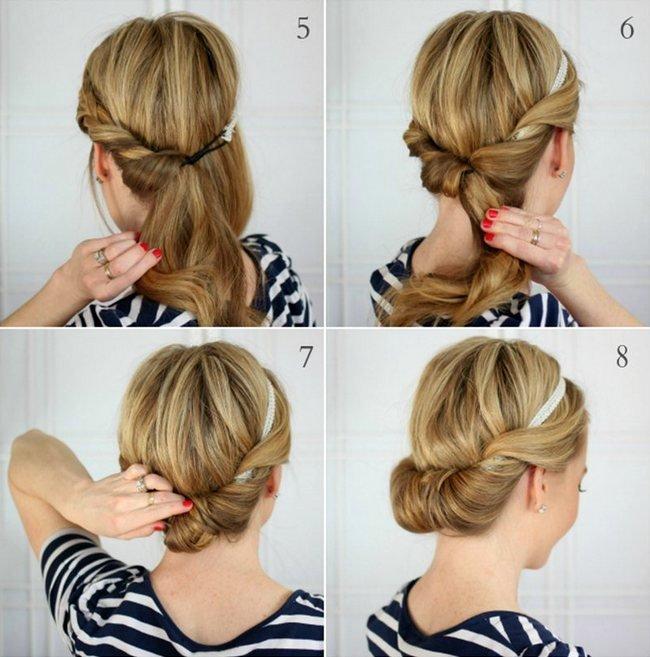 Прически на средние волосы фото своими руками на каждый день пошаговое фото 56