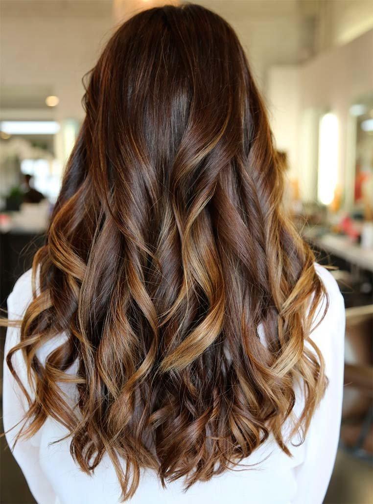 Покраска волос мелирование на темные волосы