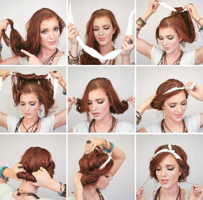 Красивые женские прически на средние волосы своими руками фото