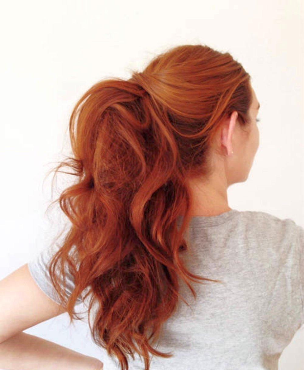 Укладка для длинных рыжих волос 82
