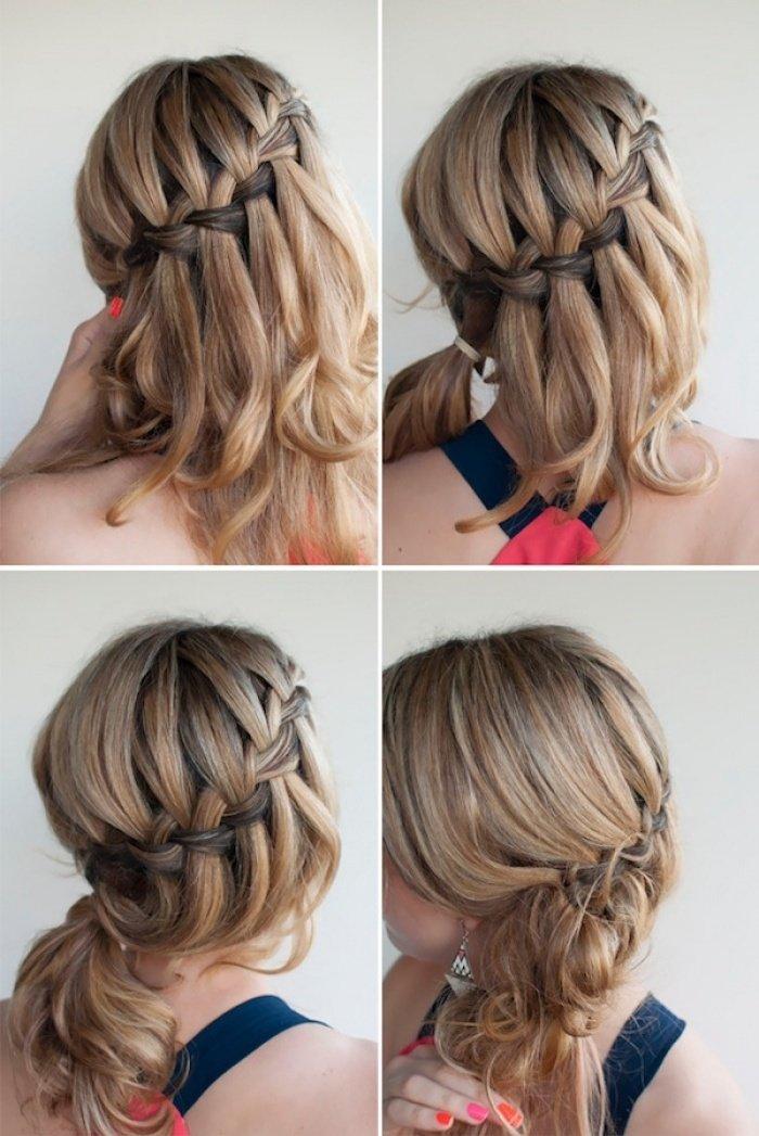 Легкие прически для коротких волос с плетением7