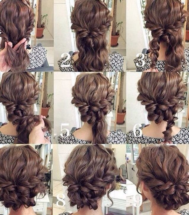 Прическа своими руками на длинные волосы с кудрями