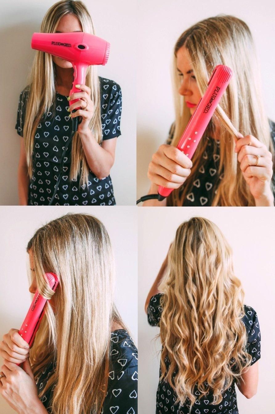 Как сделать кудри с помощью выпрямителя на средние волосы