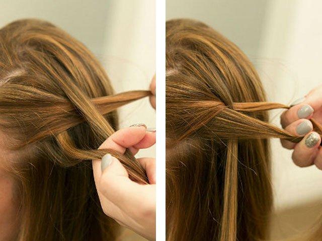 Плетение косы жгутом