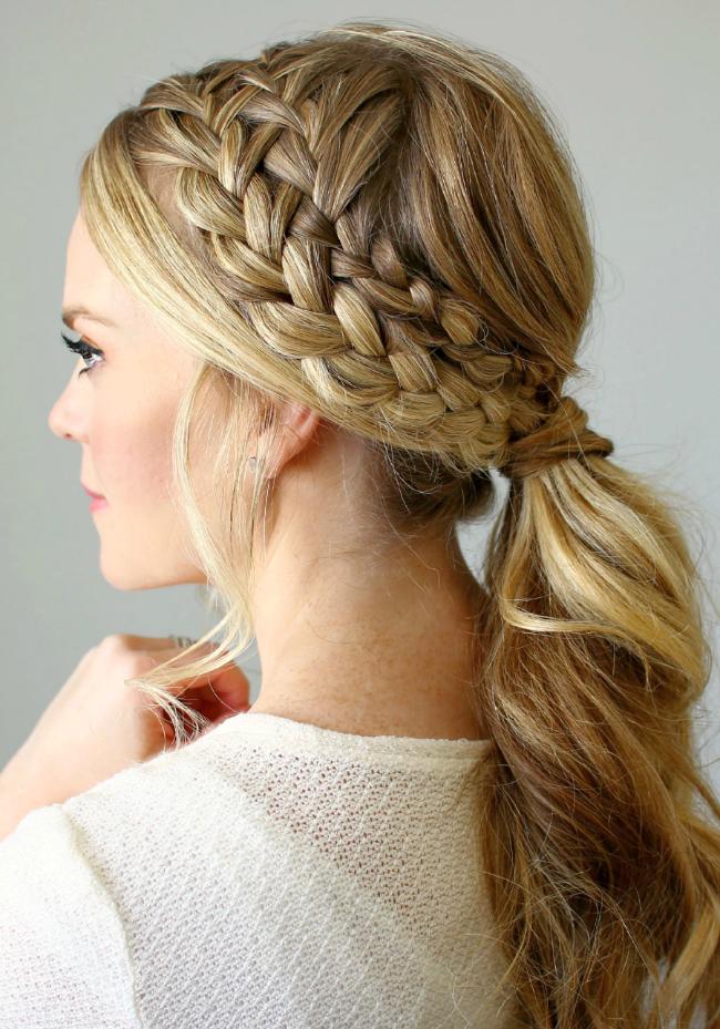 фото плетения на длинные волосы