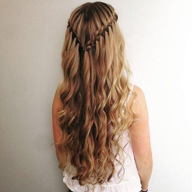 Косы на длинные волосы для девушек на работу модели девушки веб
