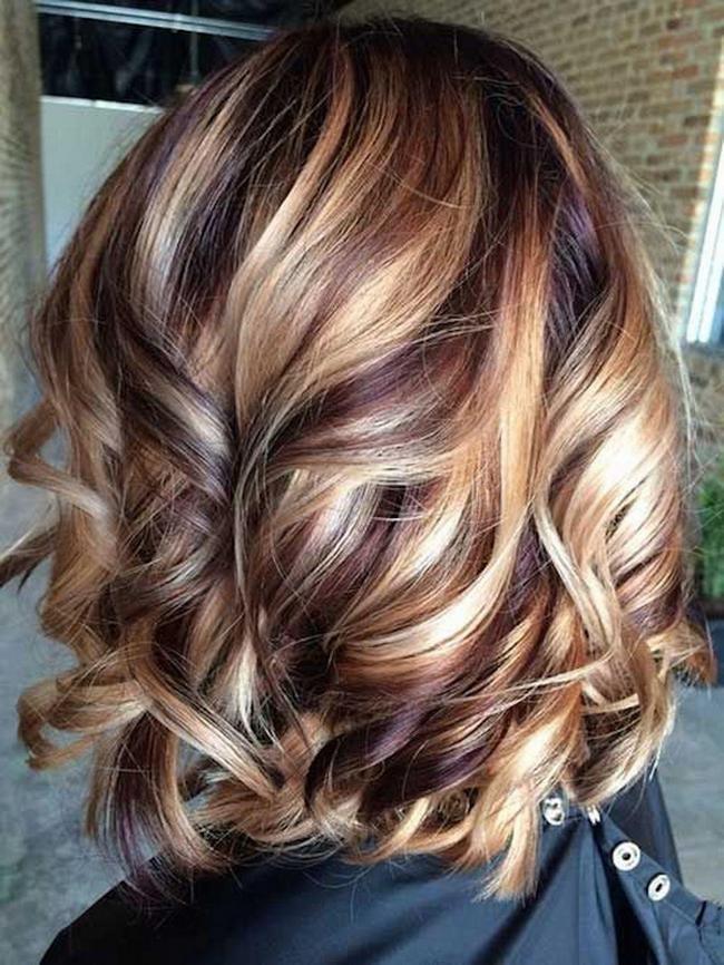 Модное окрашивание на темных волосах фото