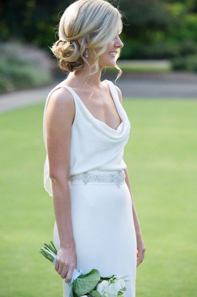Фото свадебной прически без фаты
