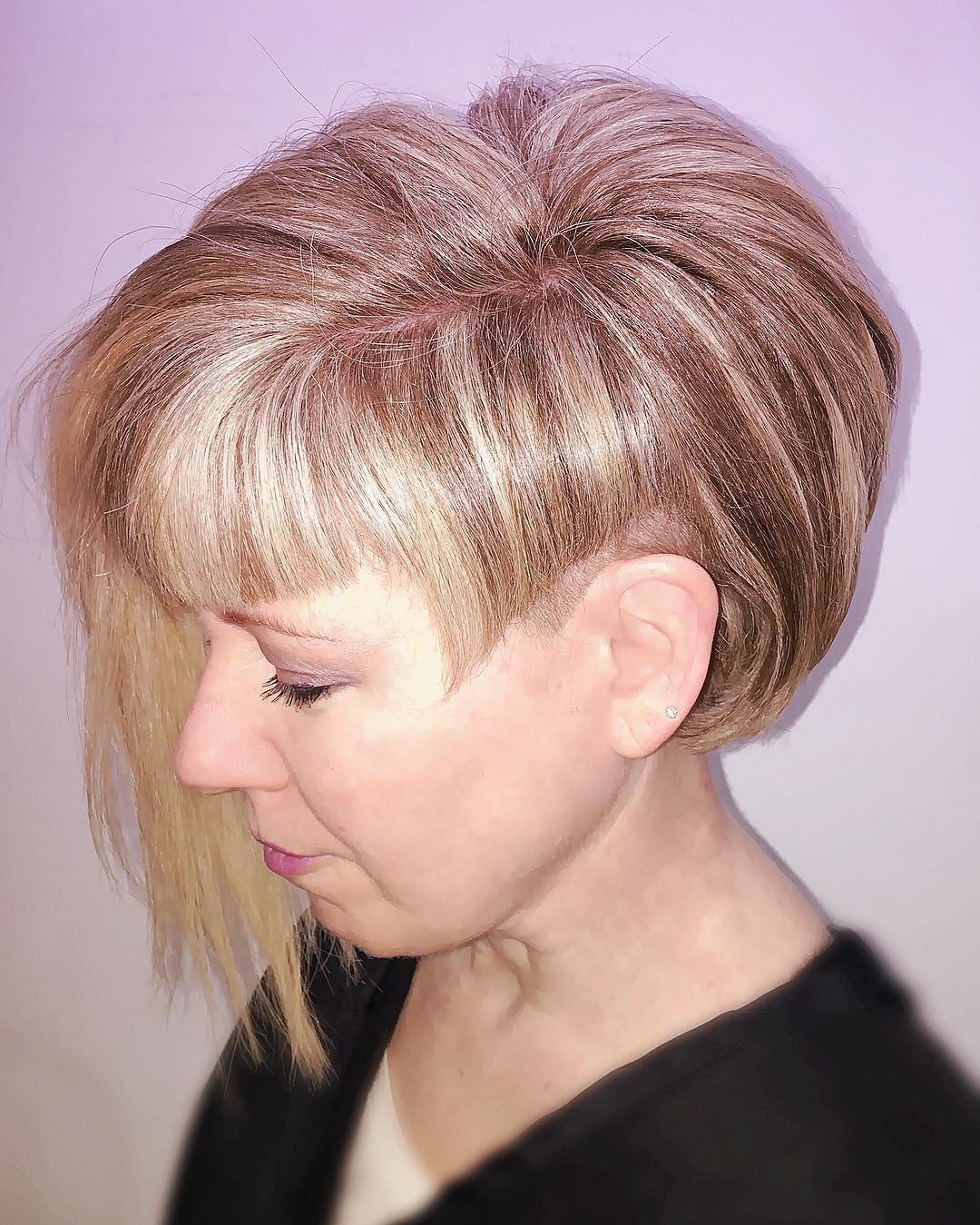 Стрижка боб удлиненная на тонких волосах