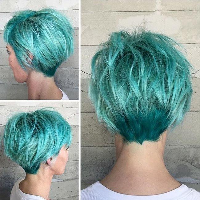 Стрижка пикси на средние волосы фото 2016 вид спереди и сзади