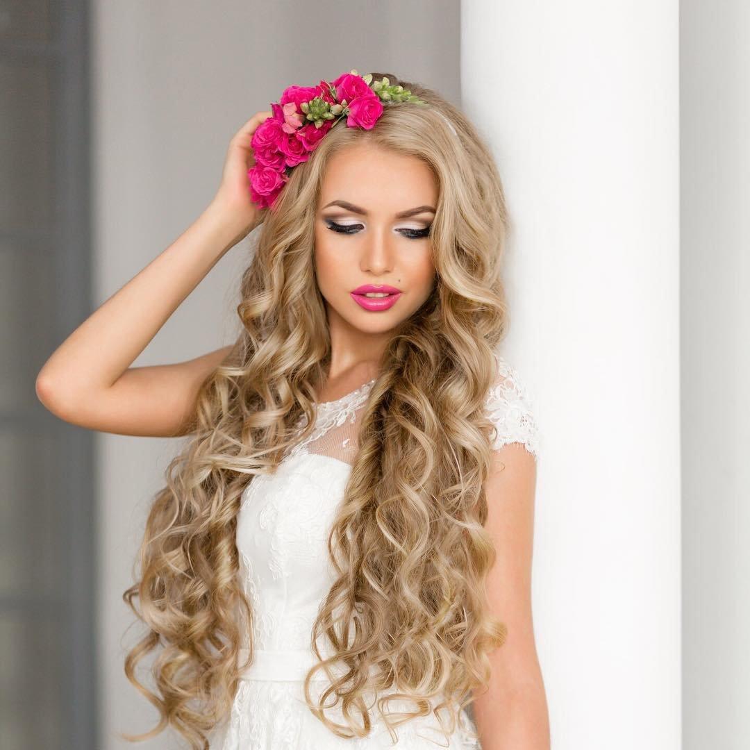 Свадебные прически для длинных волос с фатой фото - Свадебные прически для коротких волос - 100 фото!