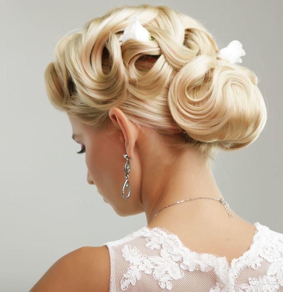 Технология свадебных причесок на средние волосы6