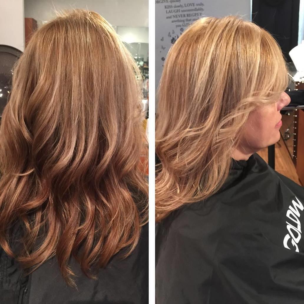 Градуированная стрижка на длинные волосы вид сзади
