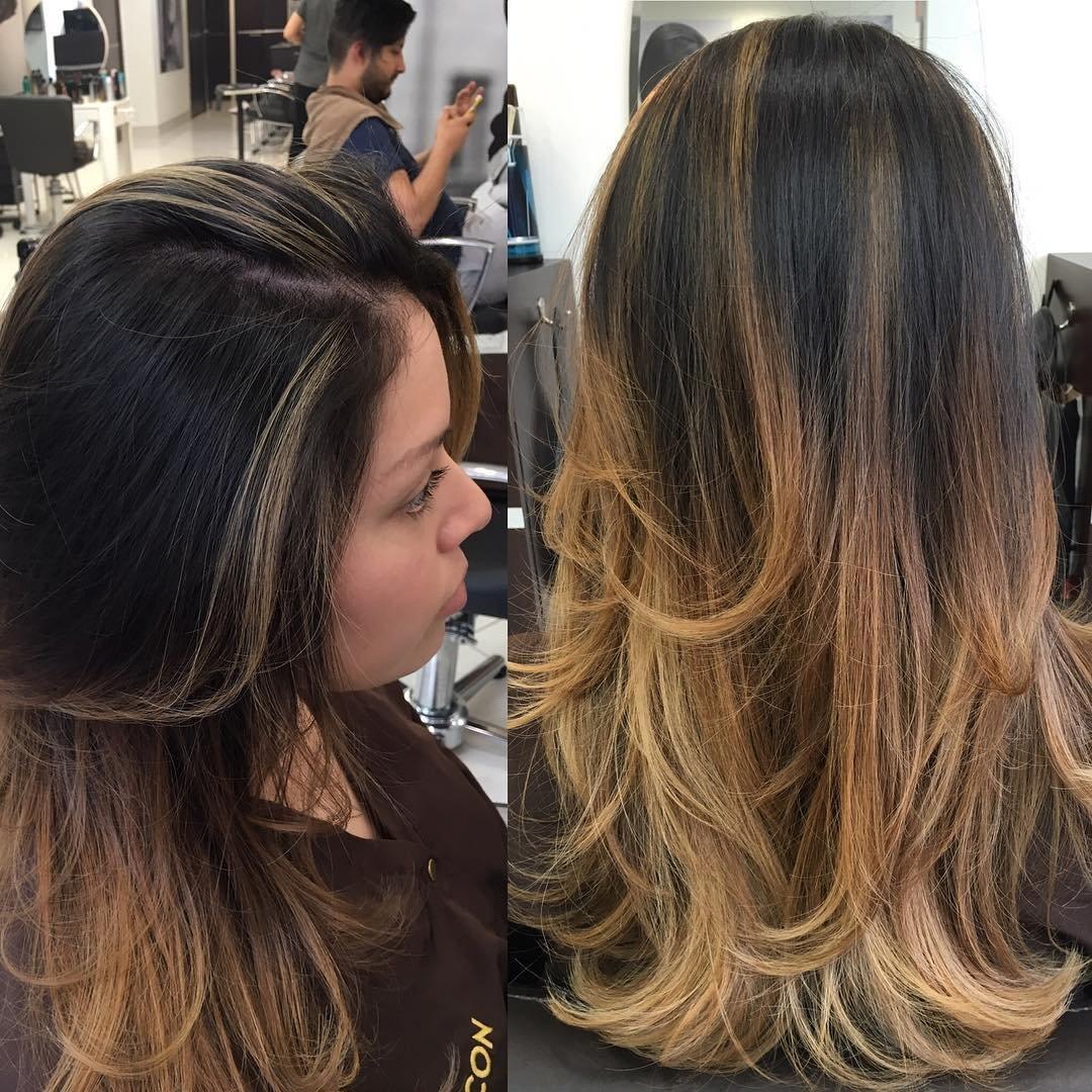 Колорирование на темные волосы : фото, видео