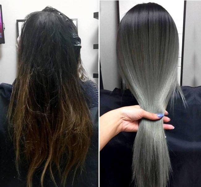 Как сделать мелирование на черные волосы фото 773