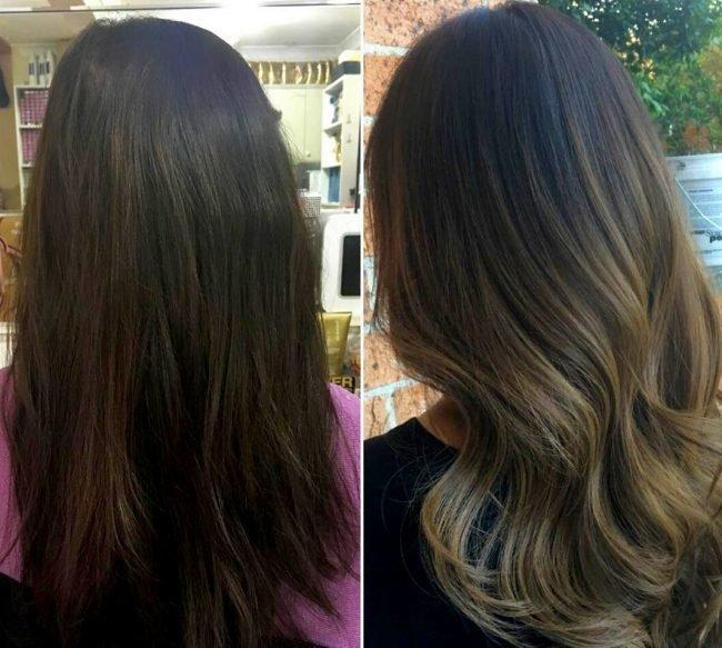 Прически для длинных черных волос фото до и после