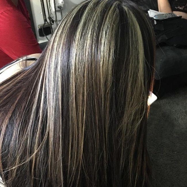 Покрасить волосы мелирование на темные волосы