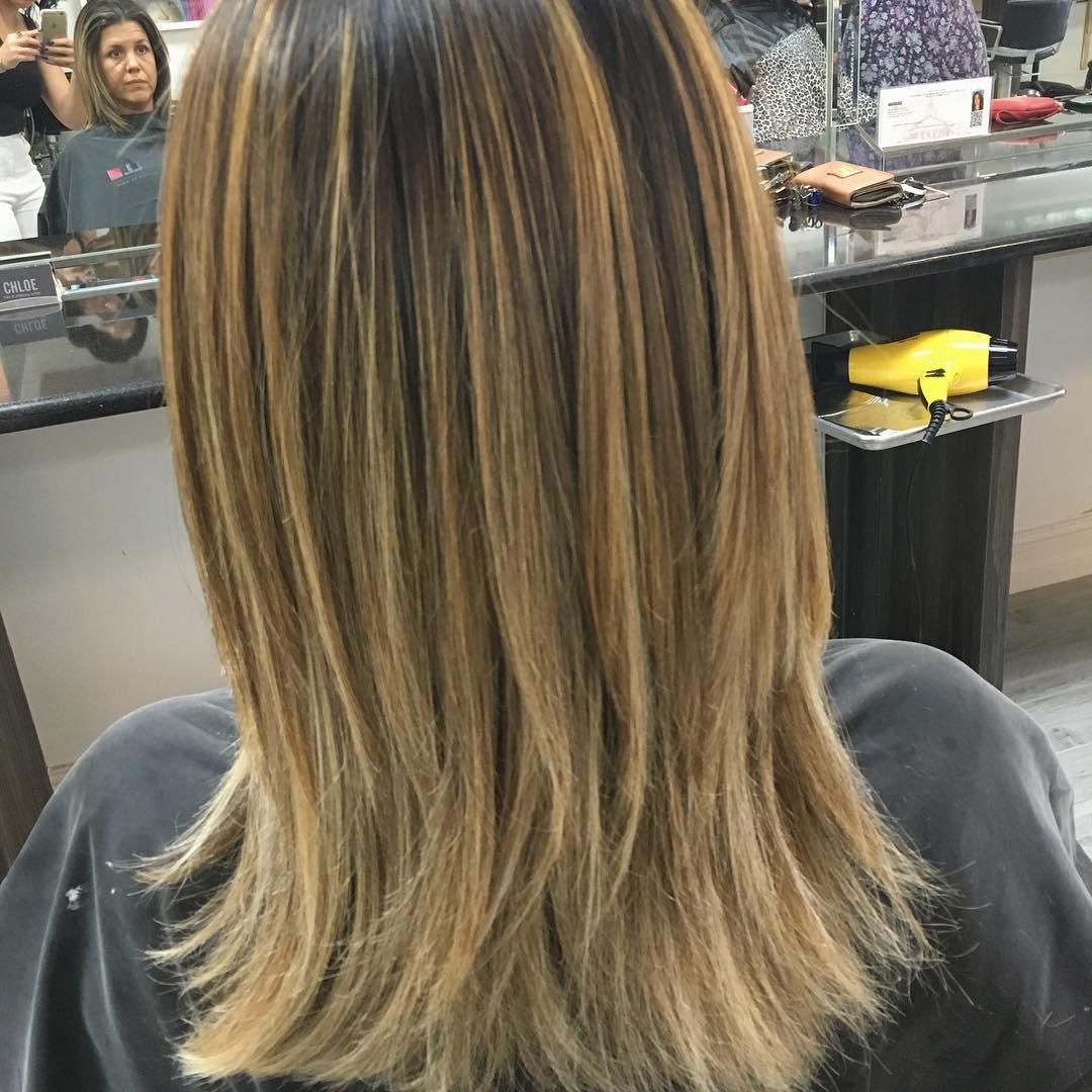 Брондирование волос русых волос