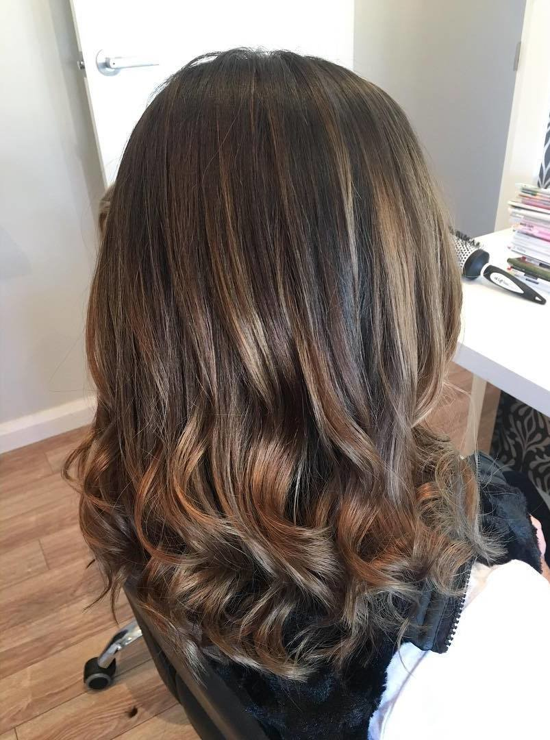 Фото сложное окрашивание на темные волосы