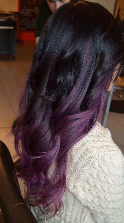 Фиолетовый оттенок волос после окрашивания