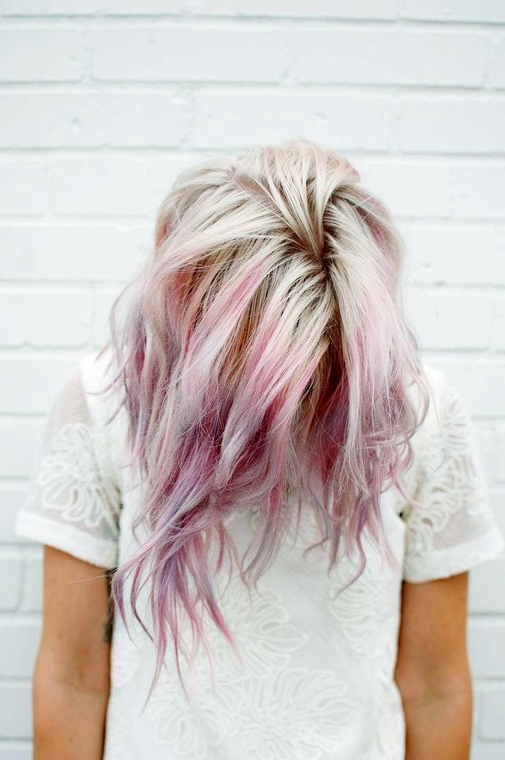 Pastel pink and brown hair