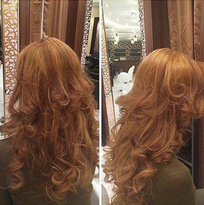 Цвет после осветления темных волос
