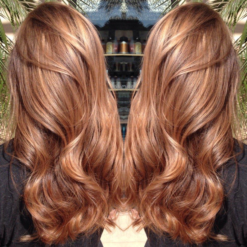 Цвет волос розовый мед