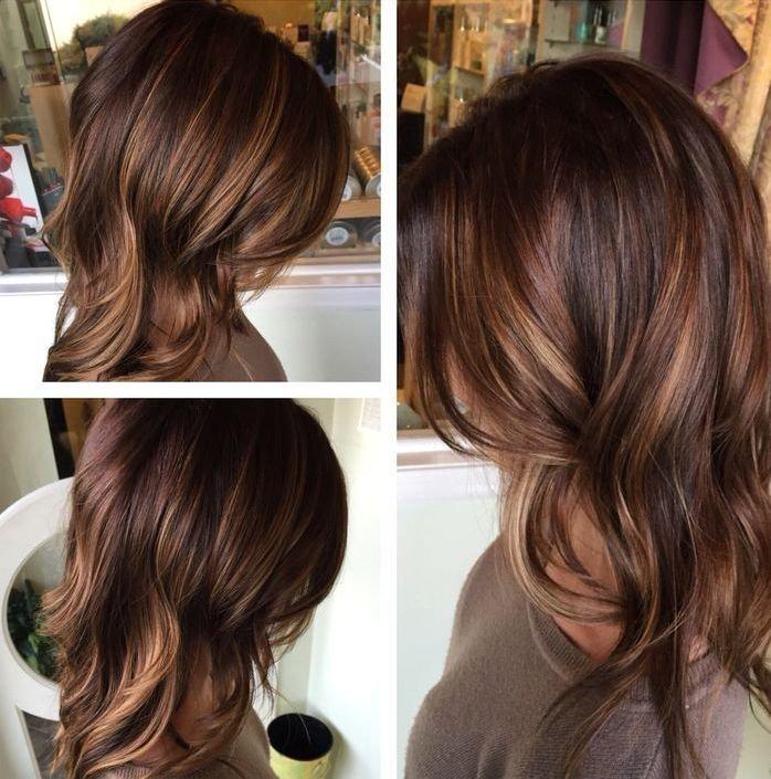 Фото модного окрашивания волос средняя длина