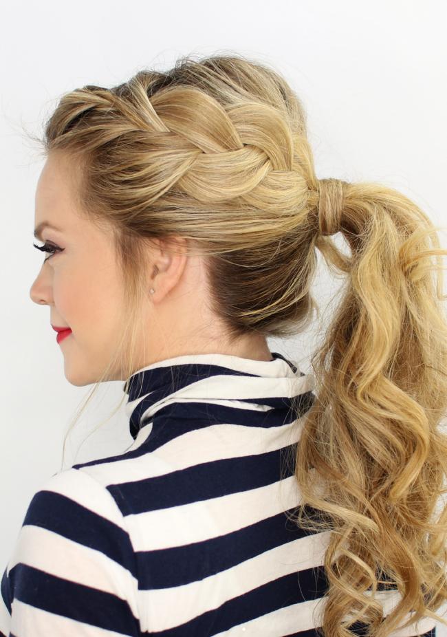 Прически на длинные волосы с начесом и косичками