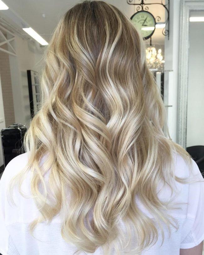 Русые волосы шатуш