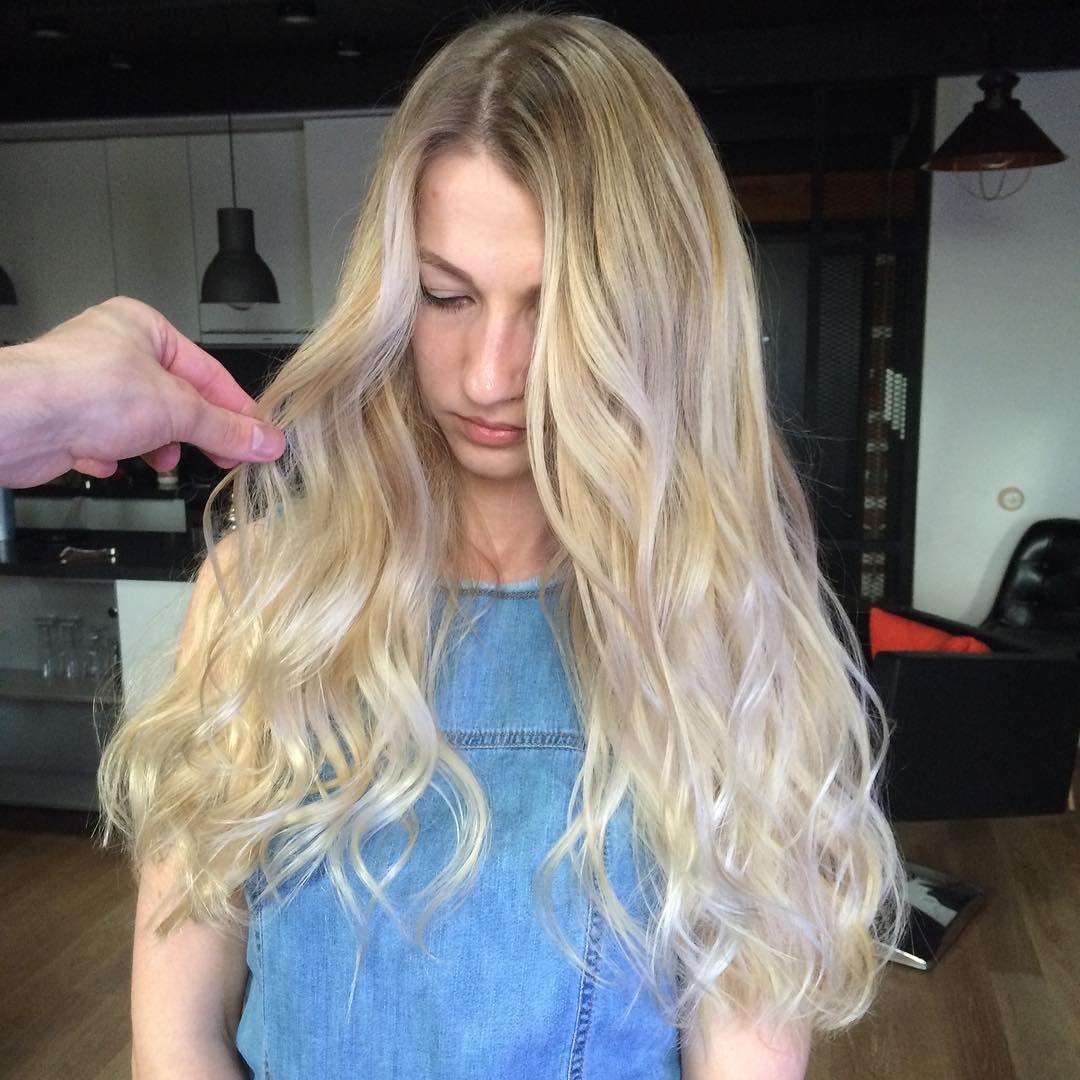 Шатуш на светлые волосы в домашних условиях