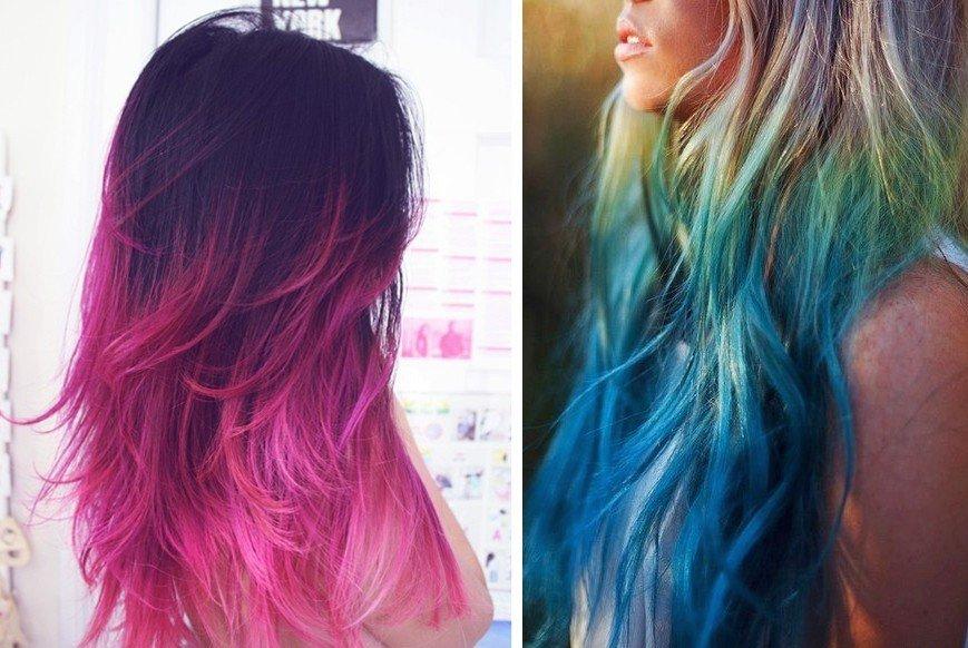 Как покрасить необычно волосы