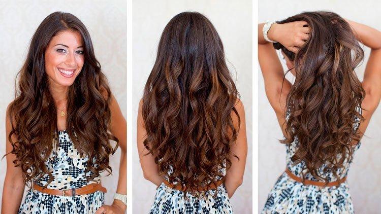 Длинные волосы каштановые волосы