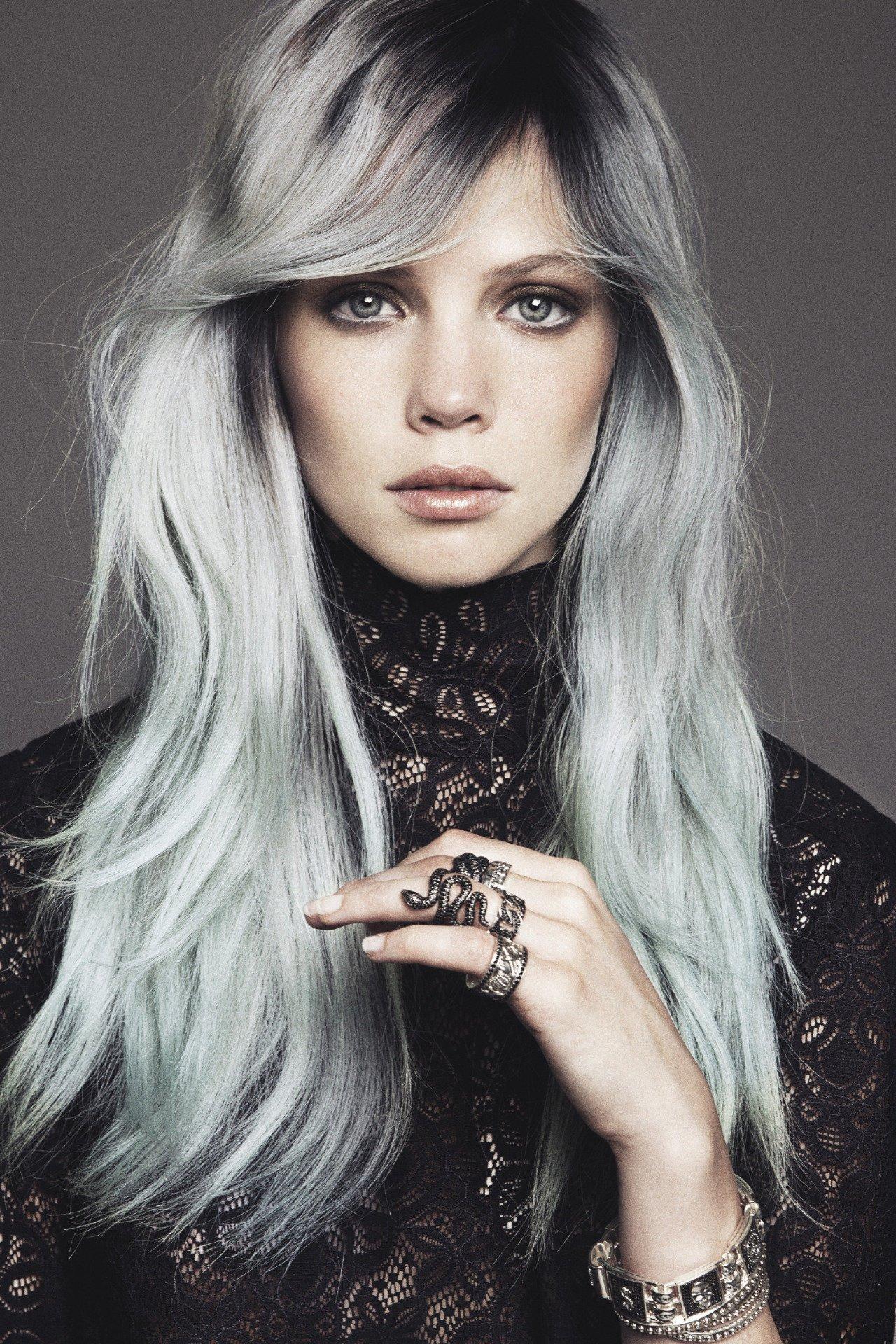 Пепельный цвет волос на светлые волосы фото