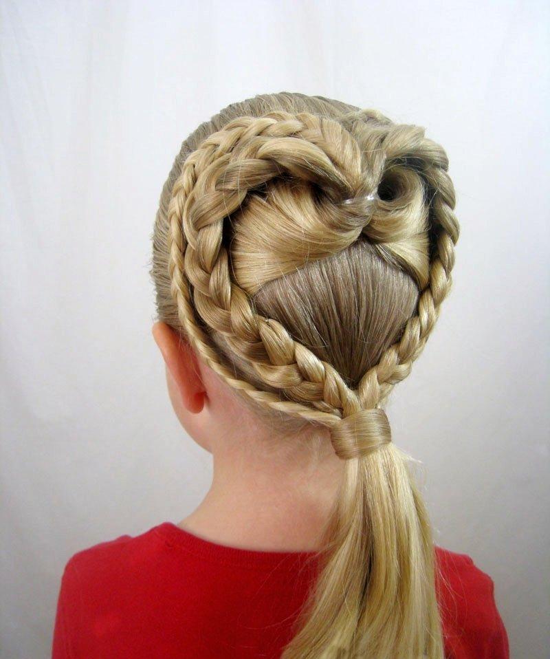Как сделать прическу из кос с косами 989