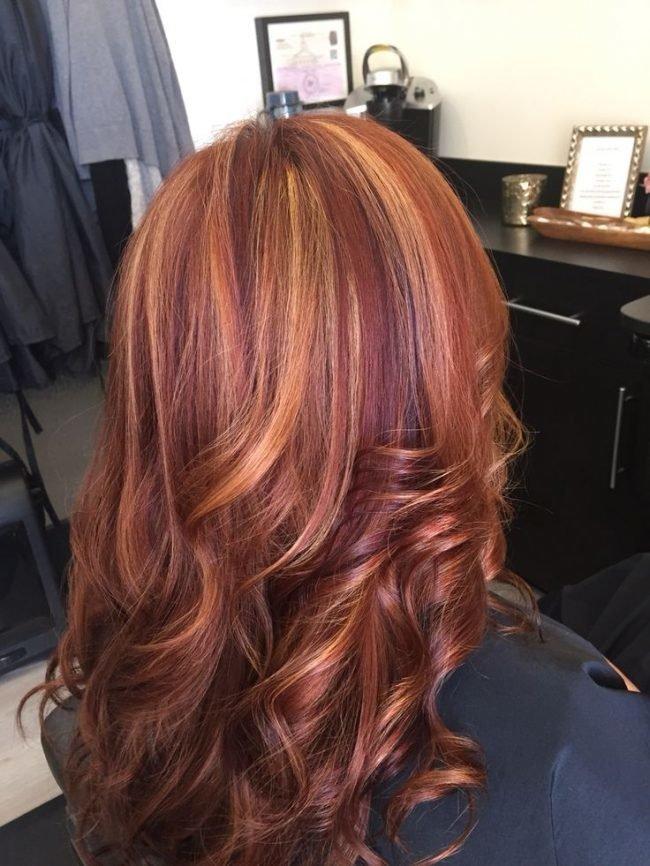 ryzhie_volosy_-12-650x866 Мелирование на рыжие волосы: фото до и после, окрашивание на медный цвет, с челкой и без, на короткие, длинные, крашеные