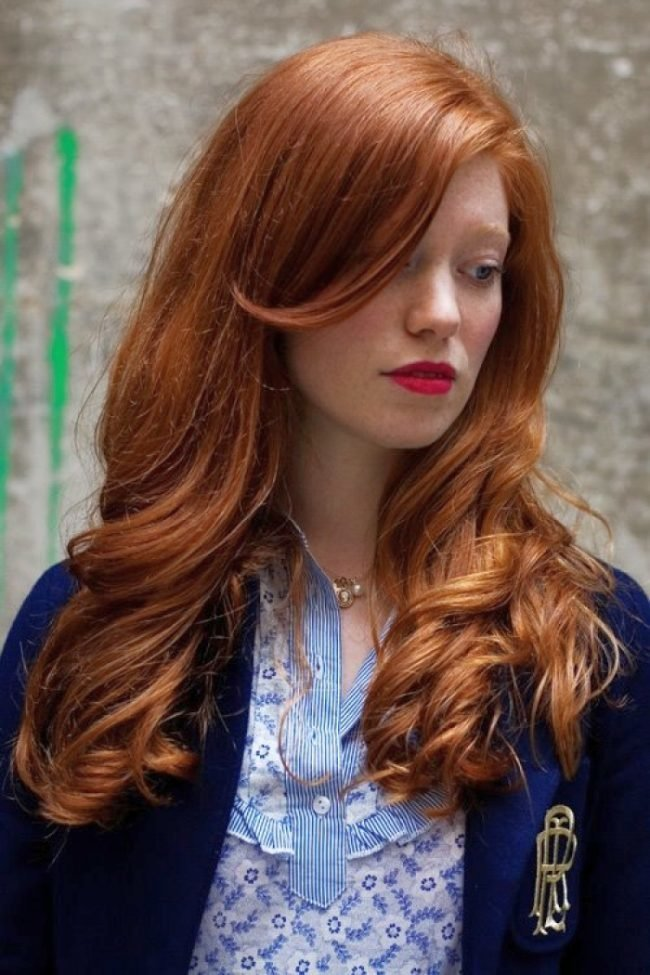 ryzhie_volosy_-33-650x975 Мелирование на рыжие волосы: фото до и после, окрашивание на медный цвет, с челкой и без, на короткие, длинные, крашеные