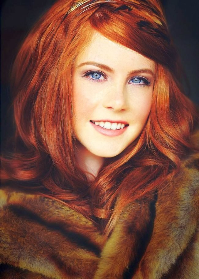 ryzhie_volosy_-34-650x911 Мелирование на рыжие волосы: фото до и после, окрашивание на медный цвет, с челкой и без, на короткие, длинные, крашеные
