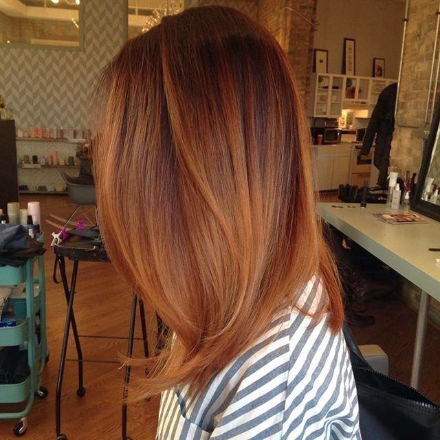 ryzhie_volosy_-39 Мелирование на рыжие волосы: фото до и после, окрашивание на медный цвет, с челкой и без, на короткие, длинные, крашеные