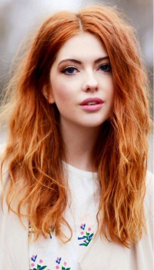 ryzhie_volosy_-42-650x1141 Мелирование на рыжие волосы: фото до и после, окрашивание на медный цвет, с челкой и без, на короткие, длинные, крашеные