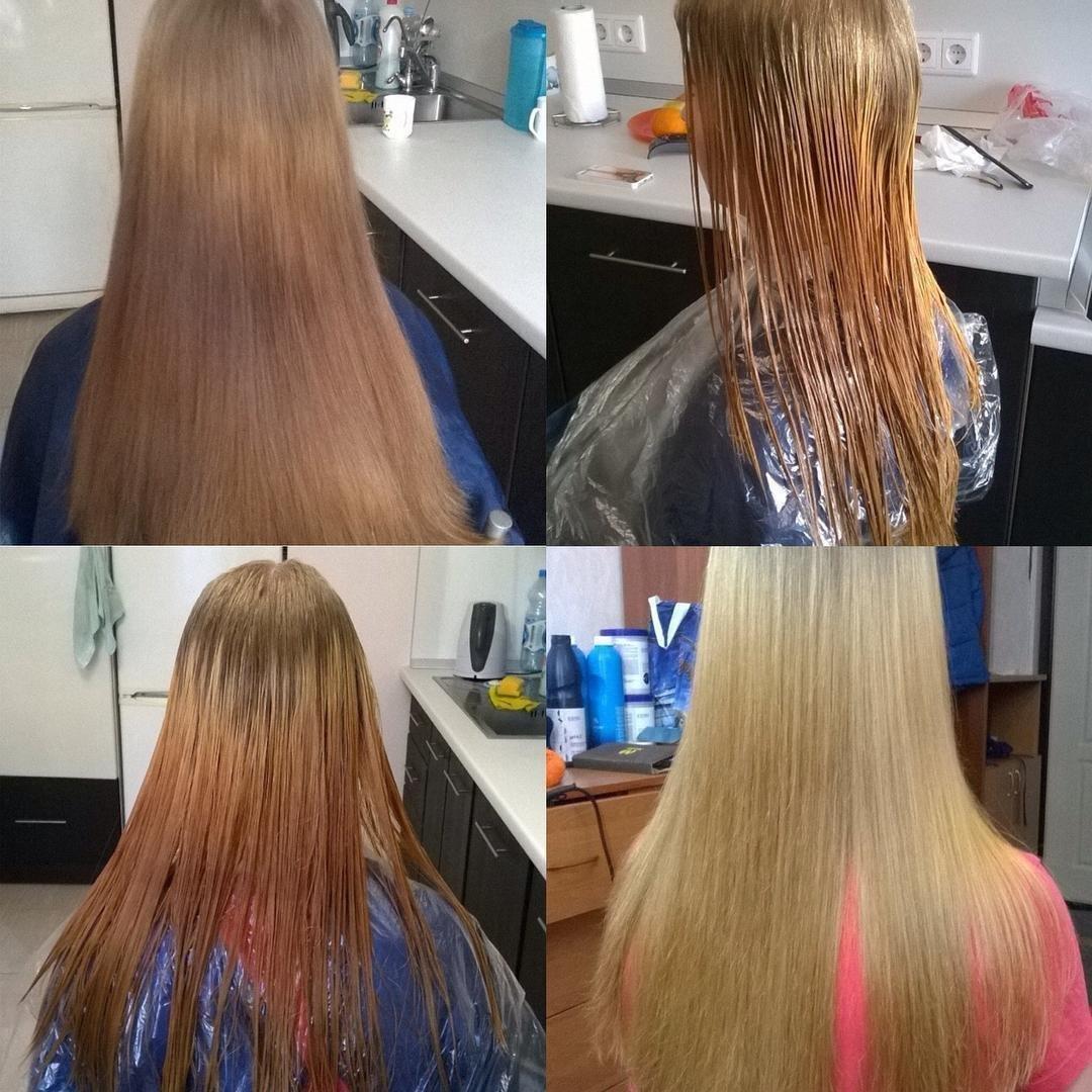 Профессиональная смывка волос в домашних условиях