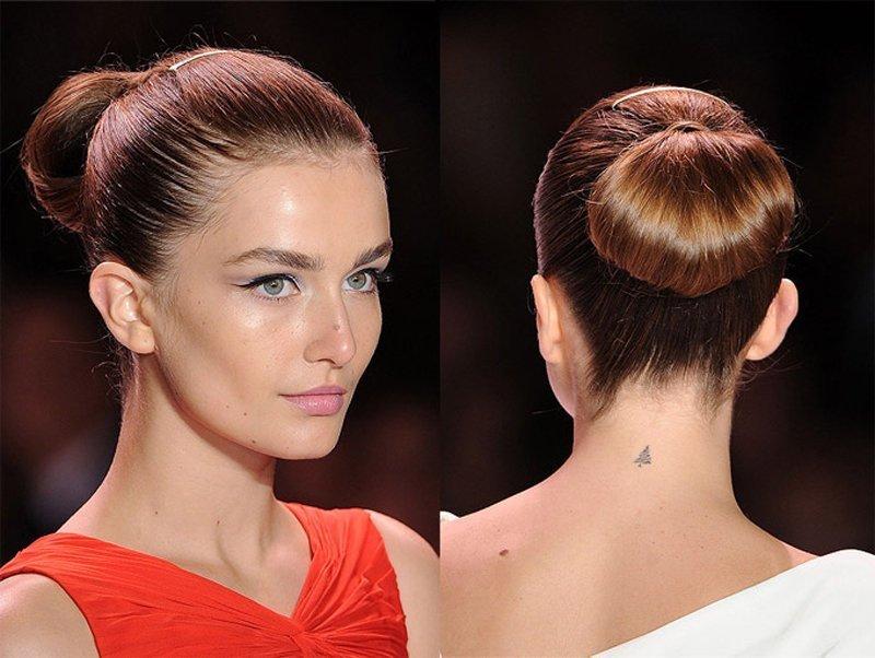 Причёски с пучками