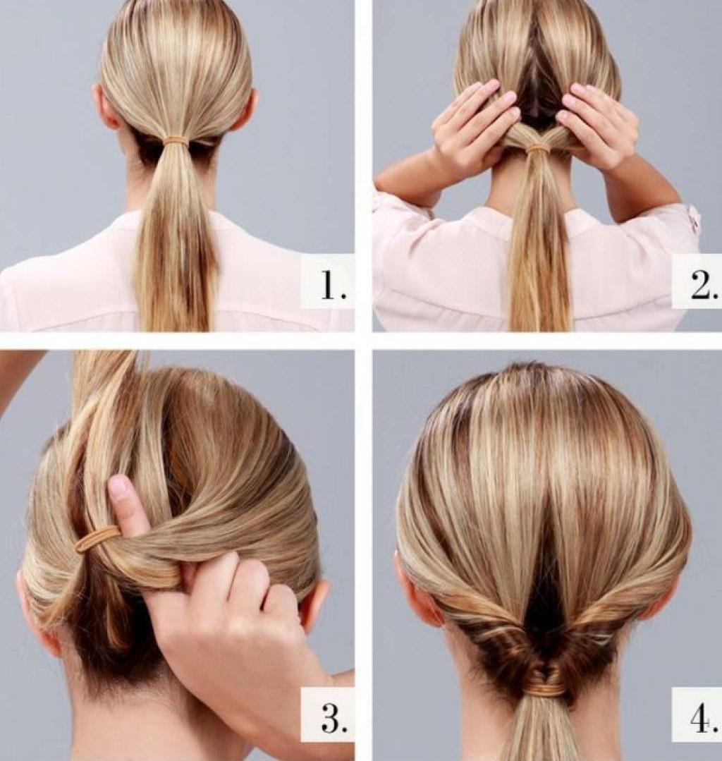 прически легкие на длинные волосы без лака