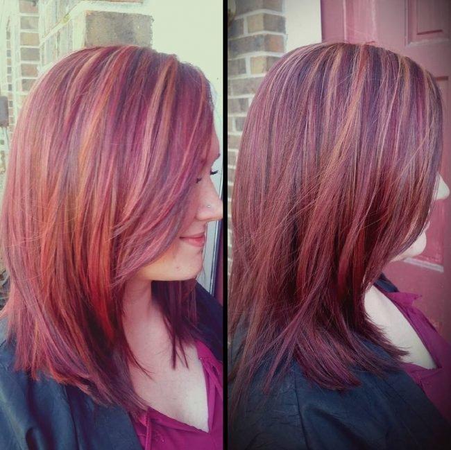 Оригинальное рыжее мелирование на рыжие волосы (50 фото) — Добавь прическе огня