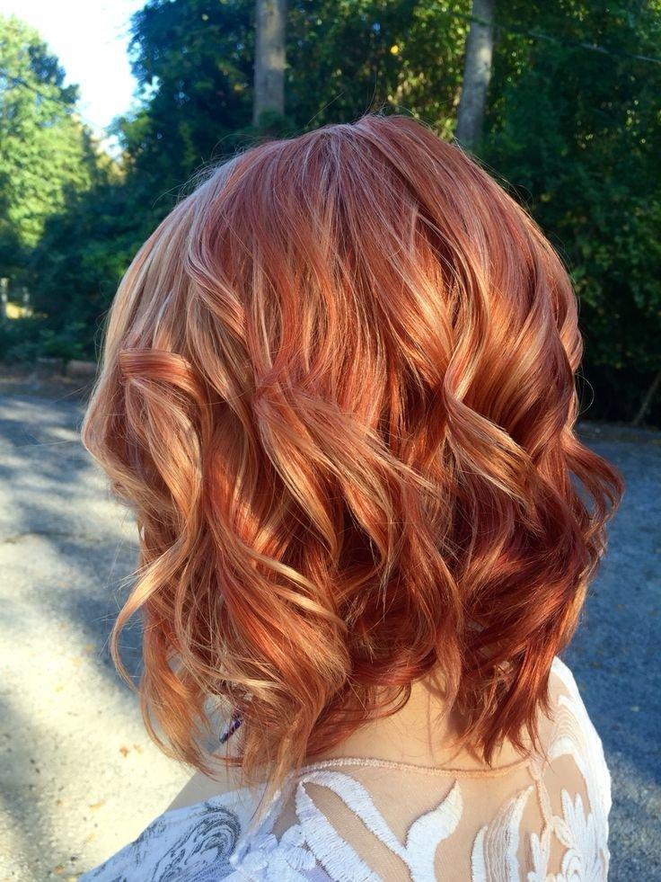 Колорирование волос рыжий цвет