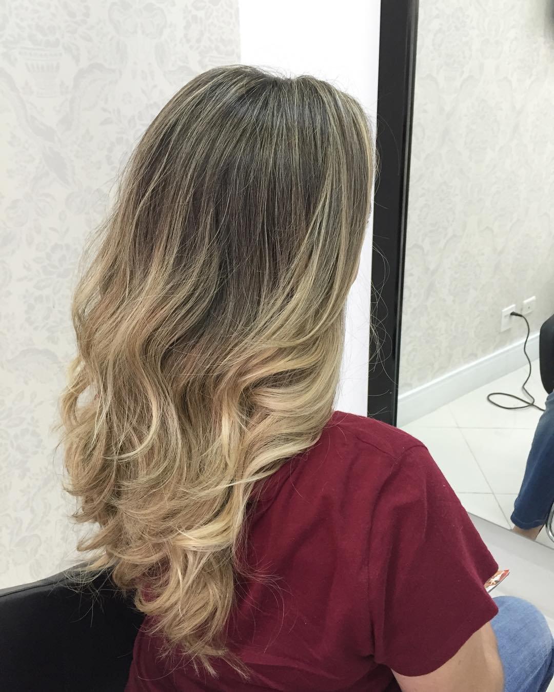 Модное осветление русых волос
