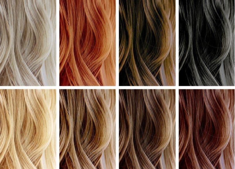 Палитра оттенков светлых волос