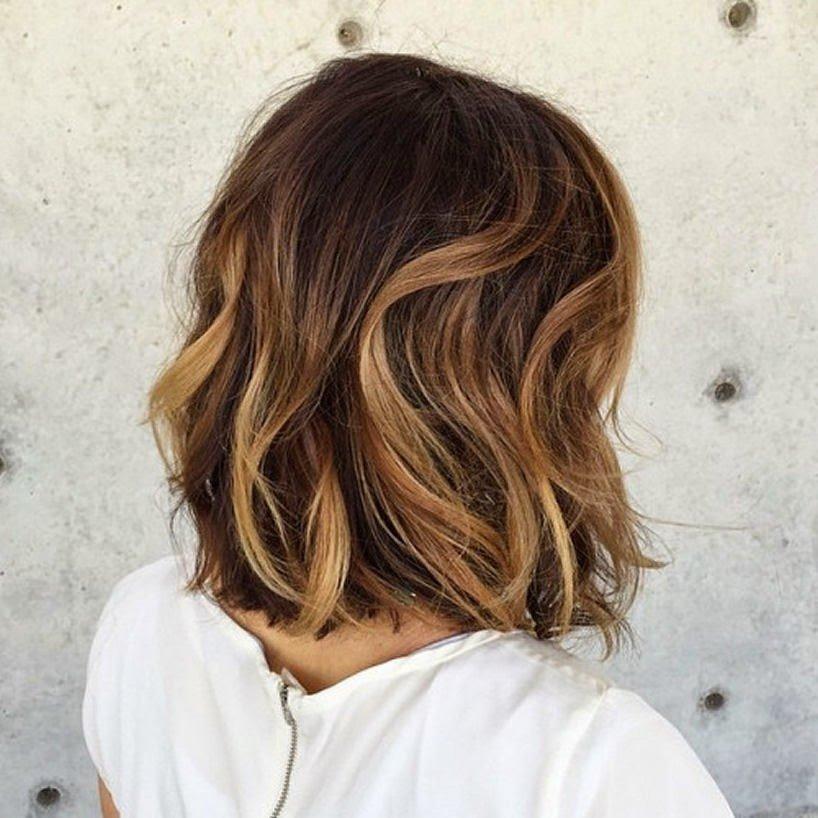 Мелирование на темных волосах коротких