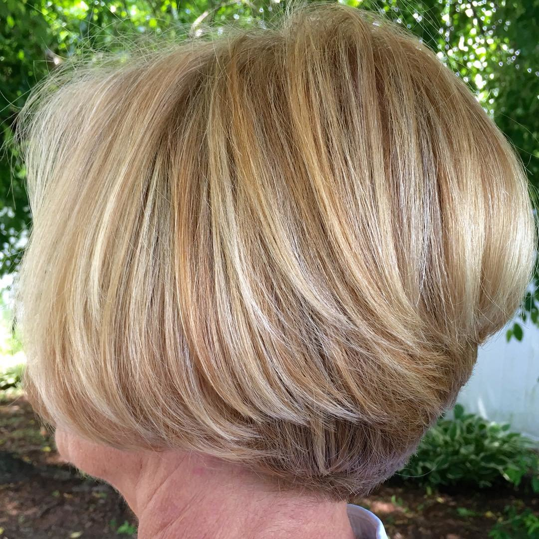 Прическа мелированных волос
